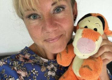 Christina Agergaard med tigerdyr